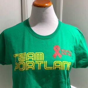4b07e8e5f2 Tops - Team Portland tee. Riding to end AIDS.